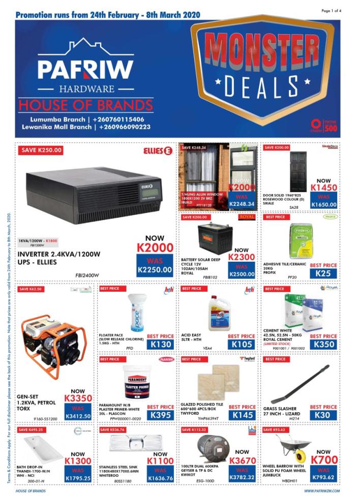 Mega sale at Pafriw Hardware