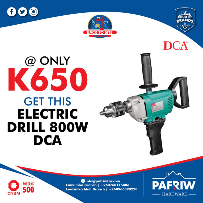 Get the DCA Electric Drill 800W at K650 only
