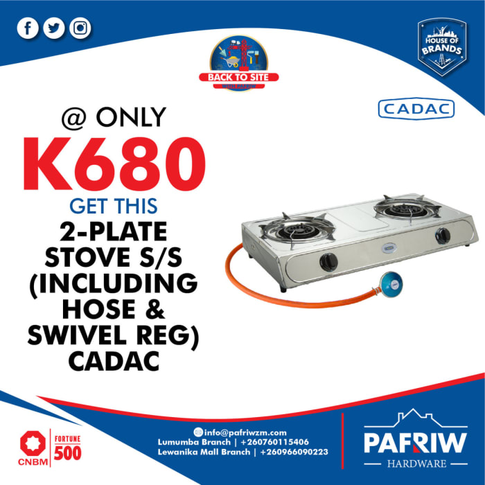 Special offer on Cadac 2 plate gas stove