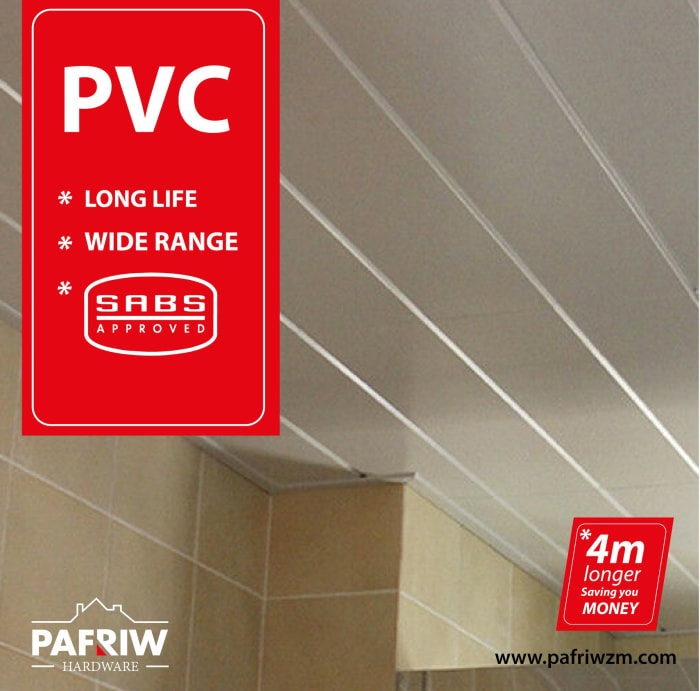 PVC ceilings manufactured from virgin material