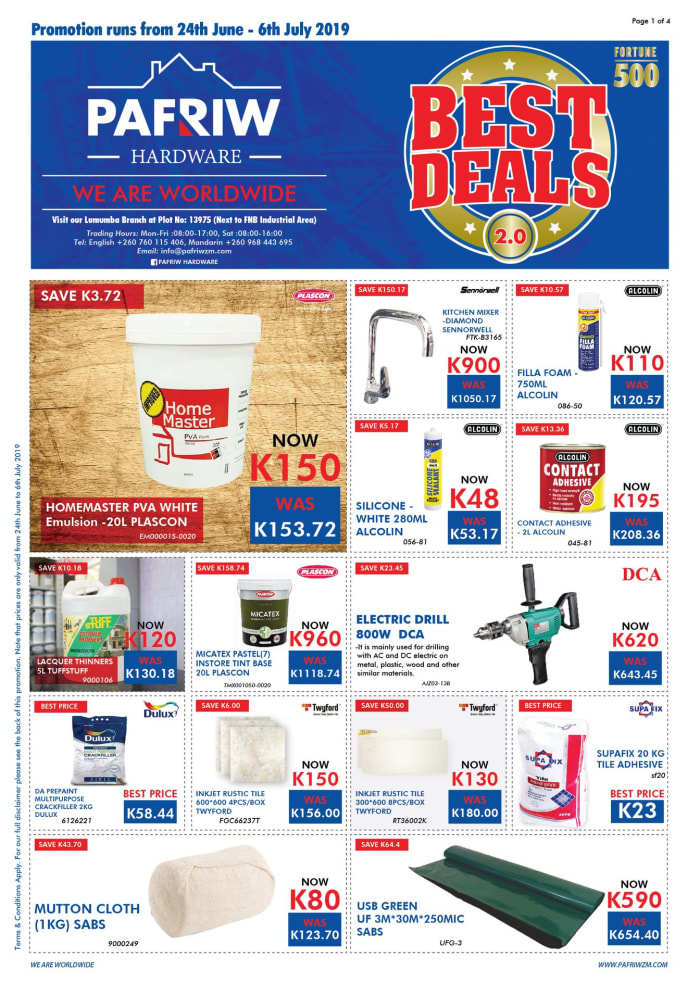 Best deals promotion on a wide range of products