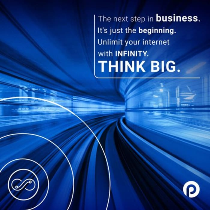 "Why settle for ""speeds of up to"" when you can get guaranteed unlimited connectivity with Infinity Business?"