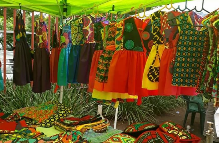 Clothing and other products in ethnic prints