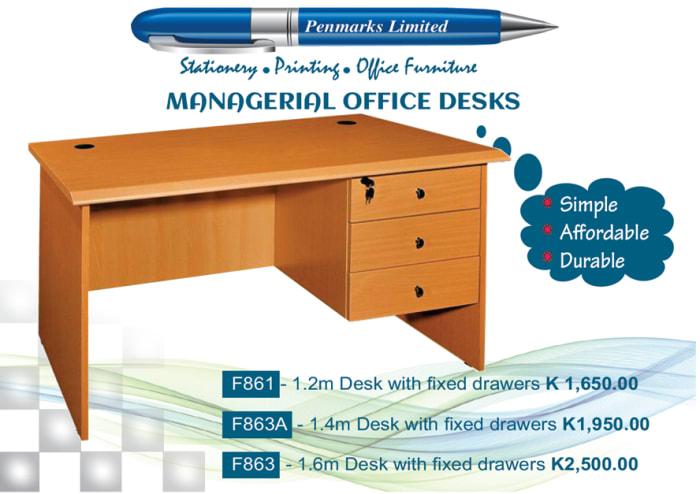 Managerial office desks