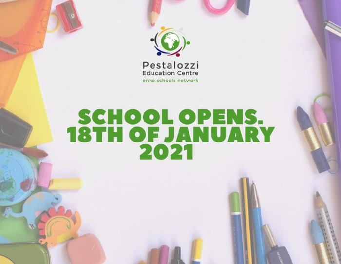 School opens 18th January 2020