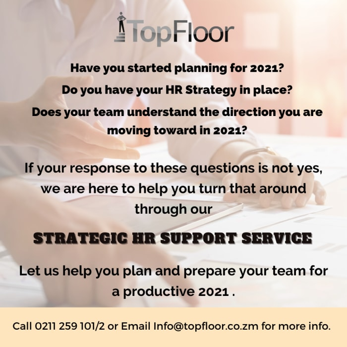 Strategic HR support services for a productive 2021