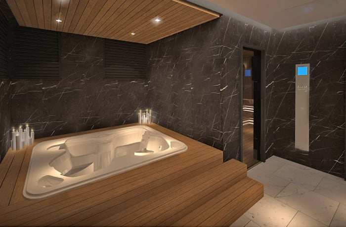SPA Centre offers sauna, steam room, hydrotherapy and jacuzzi