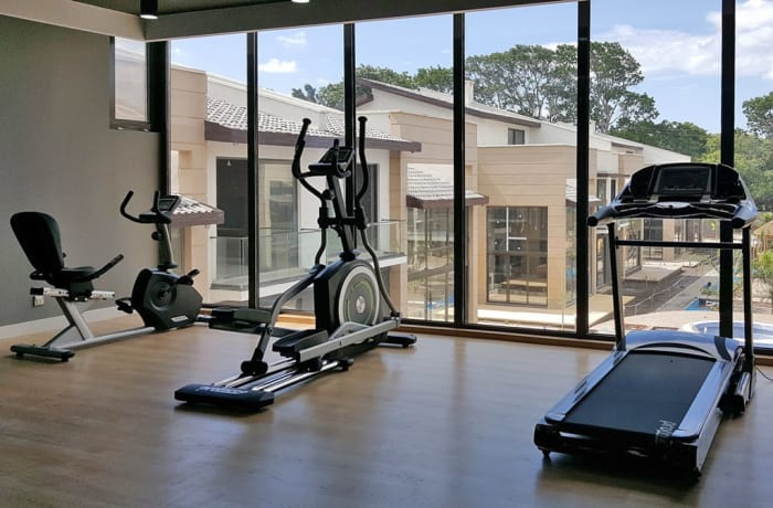 A 24-Hour gym facility, work out anytime