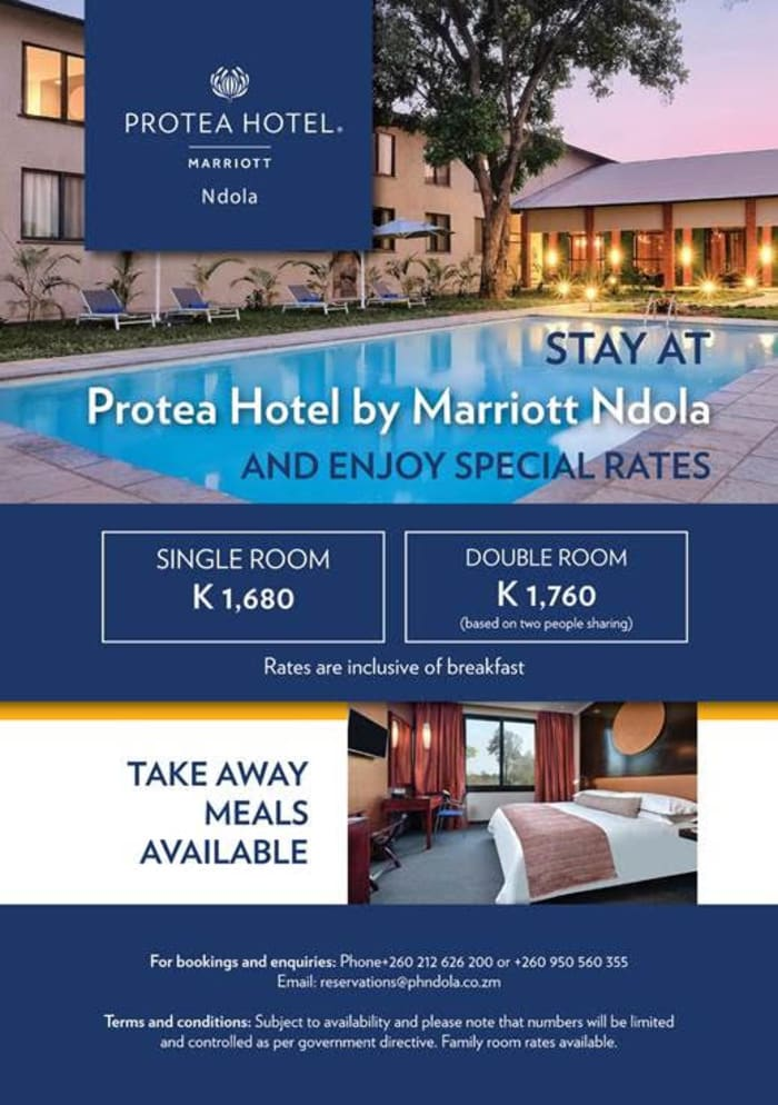 Stay at Protea Hotel by Marriott Ndola and enjoy special rates