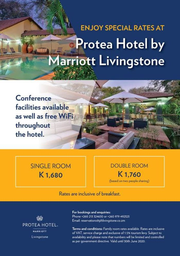 Enjoy special rates at Protea Hotel by Marriott Livingstone