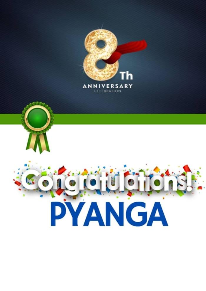 Pyanga Cleaning Services celebrates 8th Anniversary!