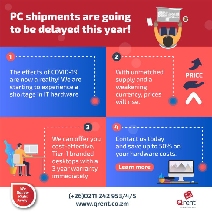 PC shipments are going to be delayed this year