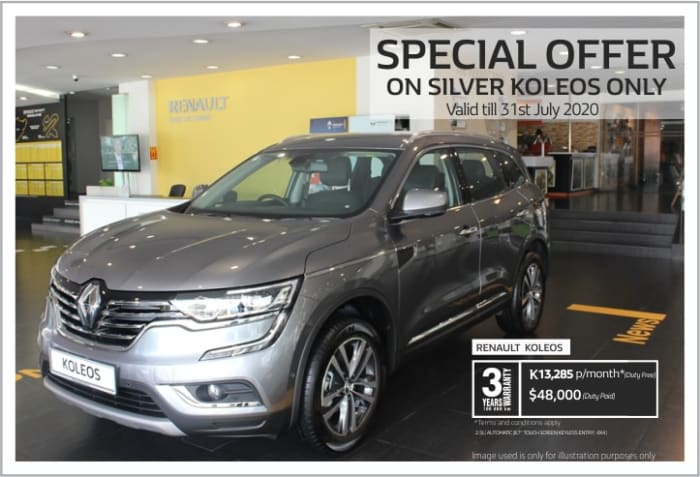 Special offer on Silver Koleos only