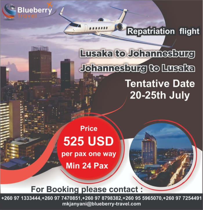 Book now for all repatriation flights
