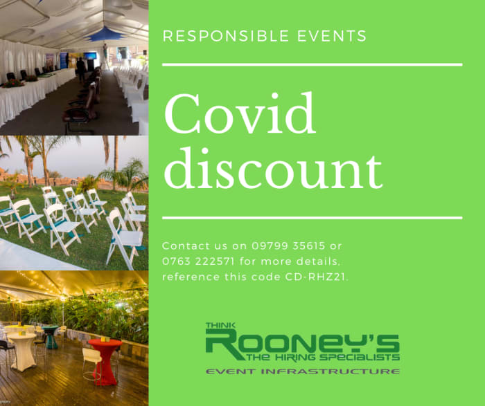 Covid discounts available!