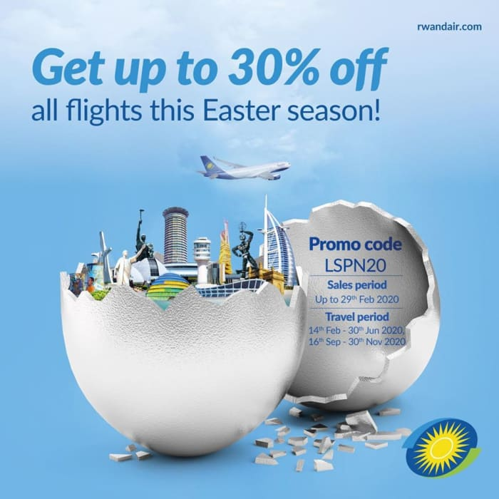 Get upto 30 % off all flights this Easter season