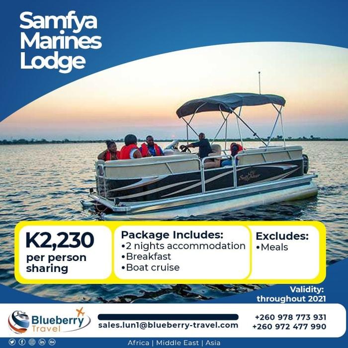 Enjoy 2 nights stay at Samfya Marines Lodge