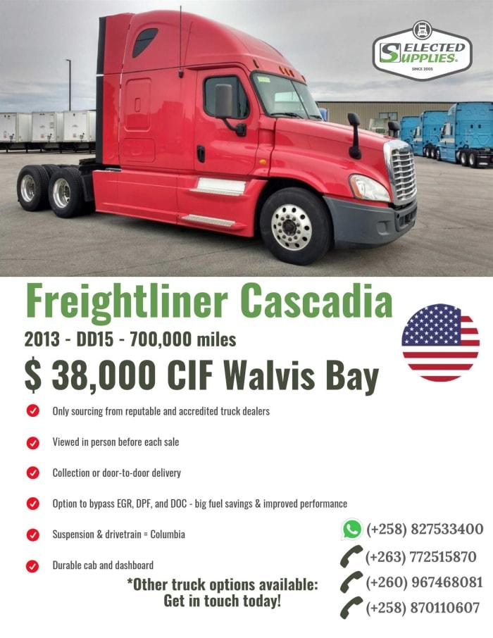 Freightliner Cascadia (2013-DD15-700, 000 miles)