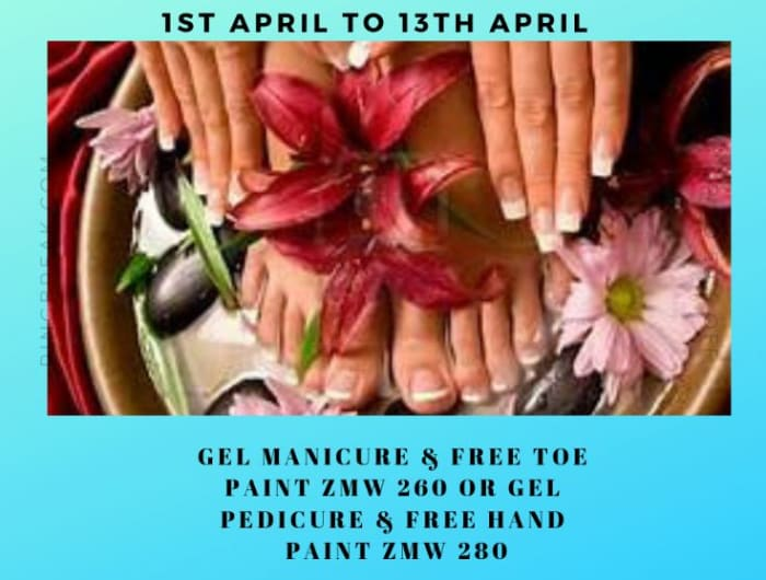 Gel pedicure and manicure on promotion