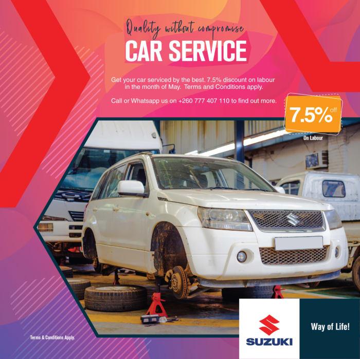 7.5% Off car service labour
