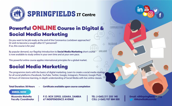 Online course in Digital and Social Media Marketing
