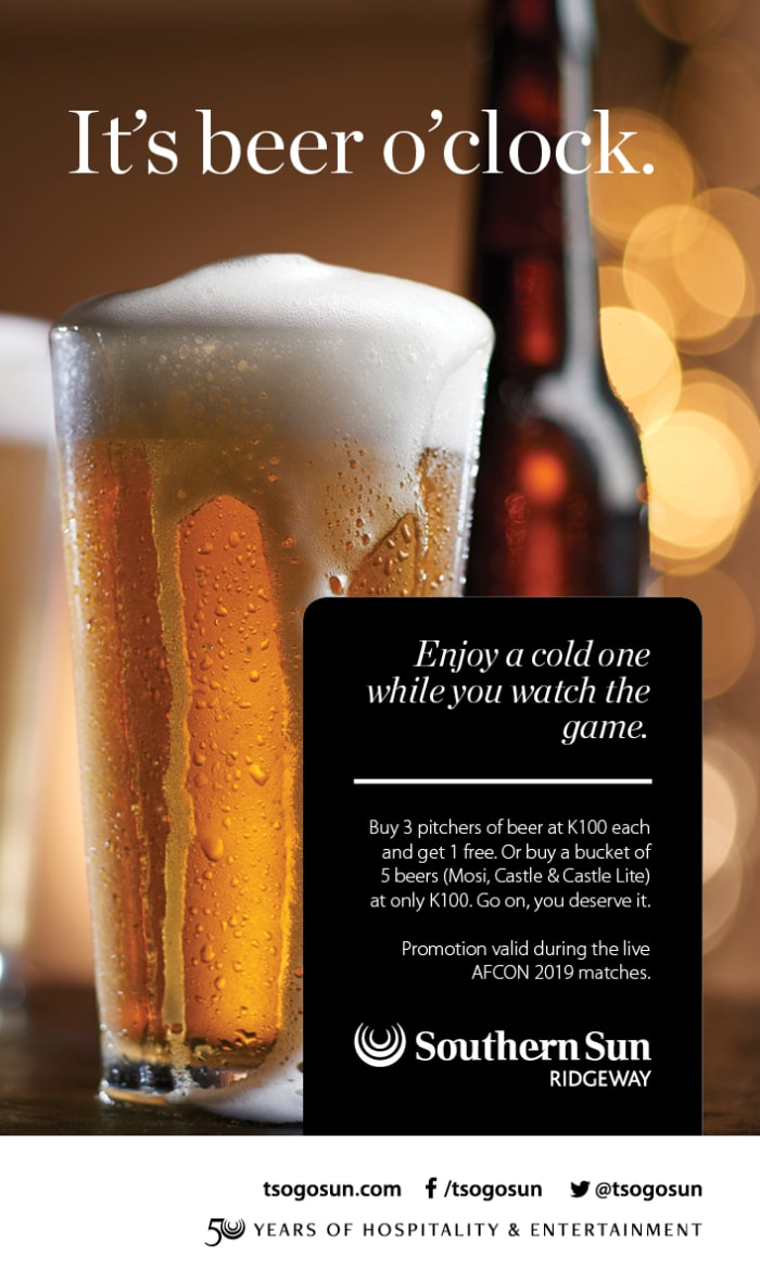 Watch the AFCON 2019 final - enjoy great food and beer specials