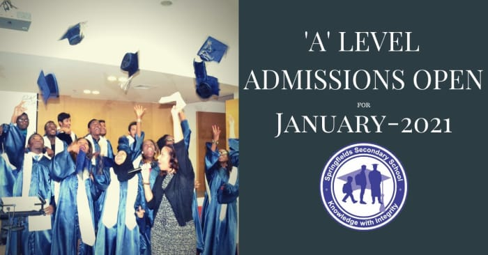 A Level Admissions open for January 2021