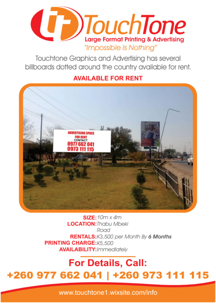 Billboard available for rent along Thabo Mbeki road