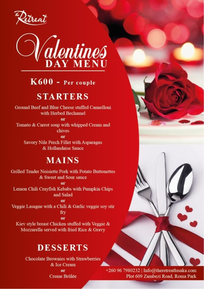 Treat your special one this Valentine's Day as you savor the moment with good food