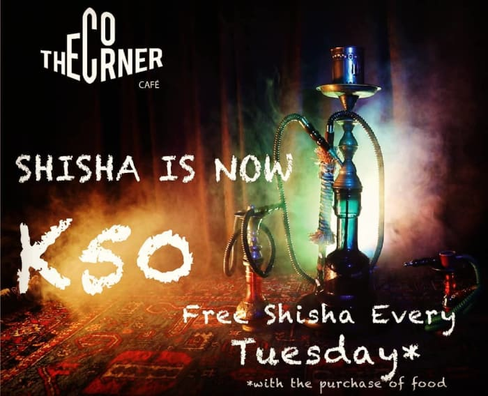 Amazing Shisha deals at The Corner Cafe