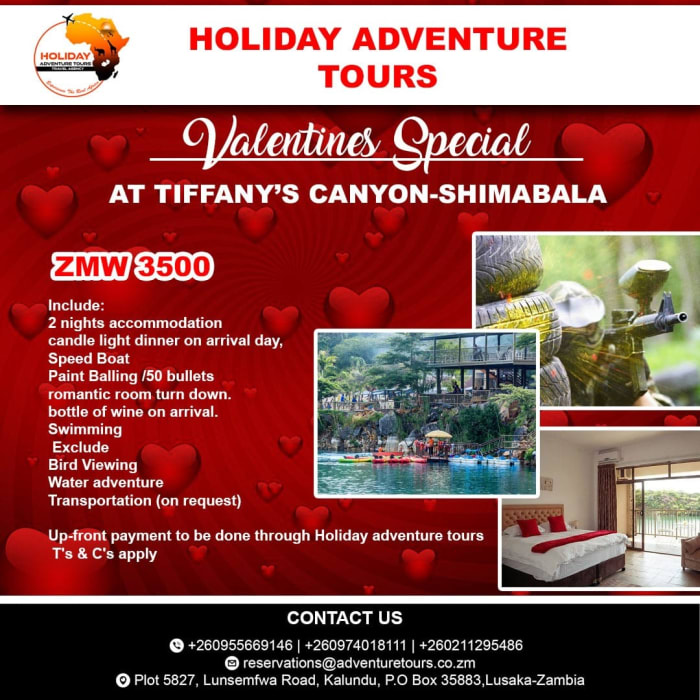 Valentines special at Tiffany's Canyon - Shimabala