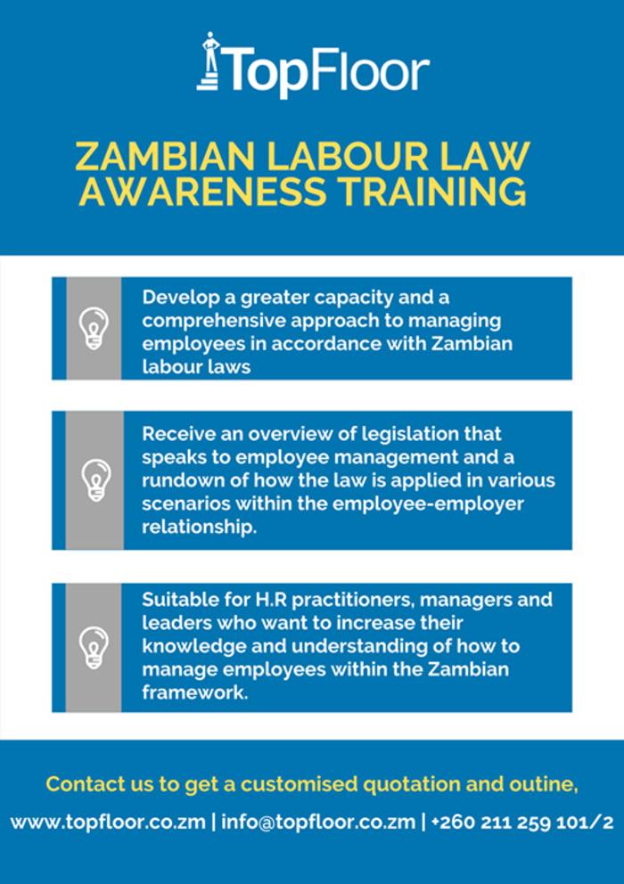 Zambian Labour Law awareness training