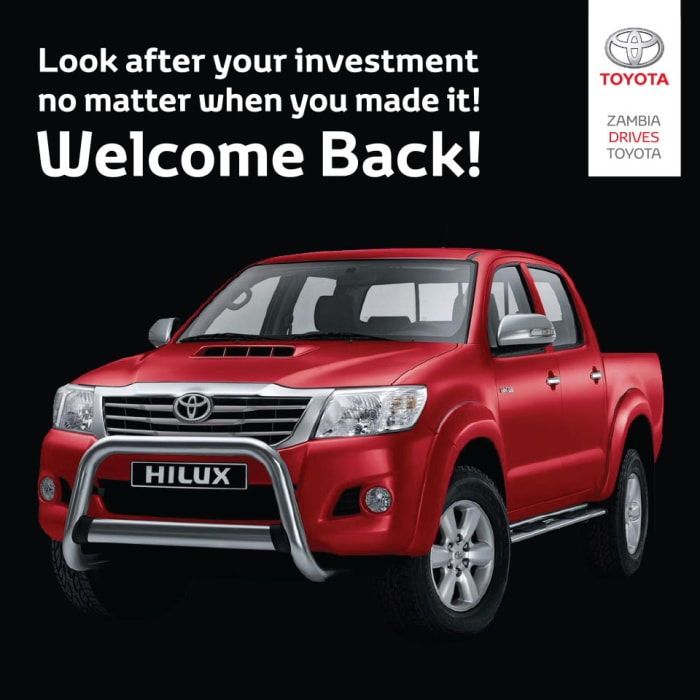 Hilux Welcome back offer