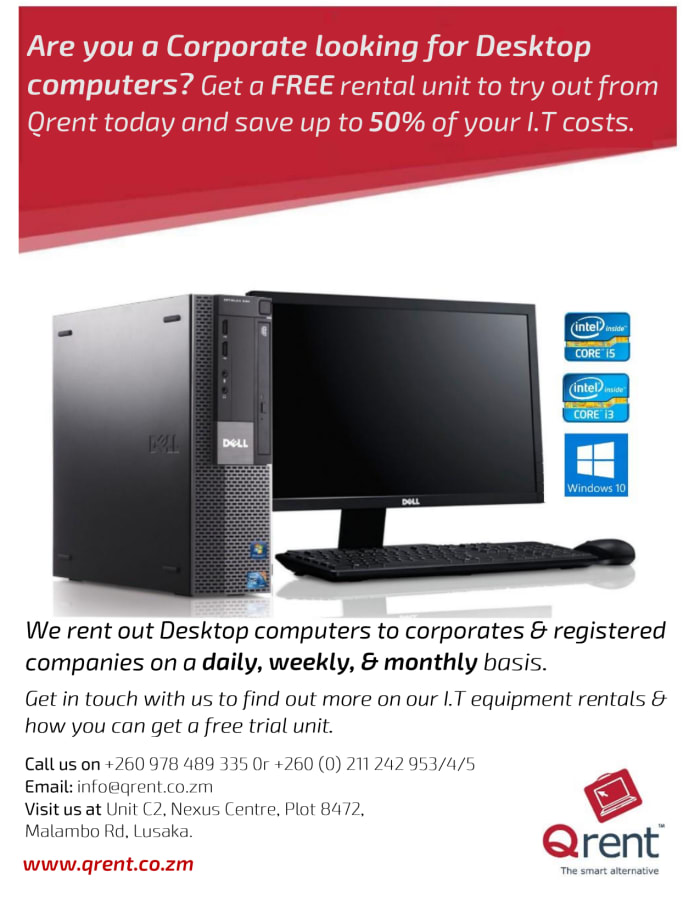 Are you a corporate looking for desktop computers? Get a free rental unit and save upto 50%