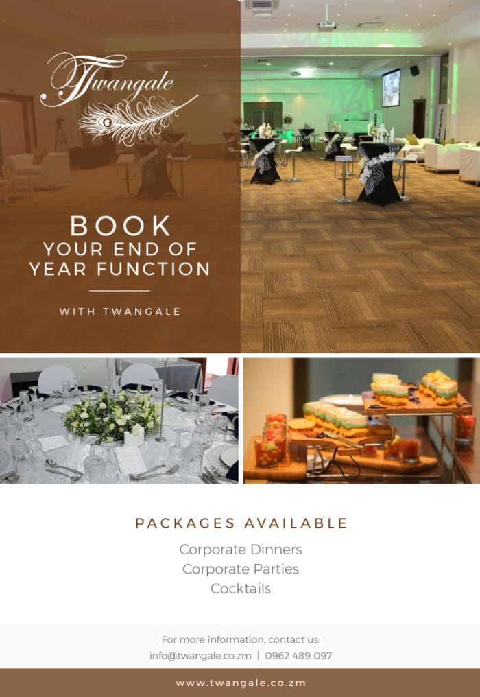 Book your end of year function with Twangale