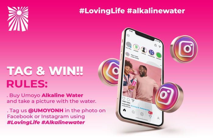 Take a selfie with Umoyo's Alkaline Water and stand a chance to win!!