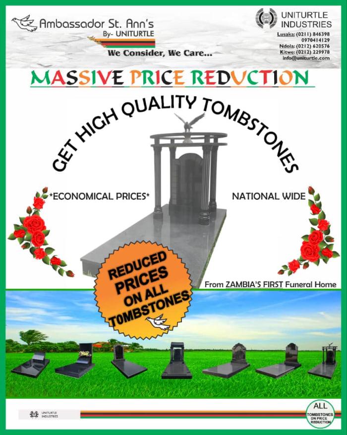 Massive price reduction on quality tombstones