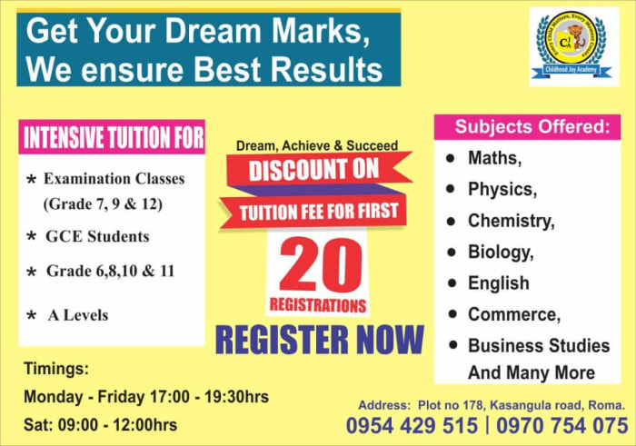 Get your dream marks with bespoke tuition - grade 6 upwards