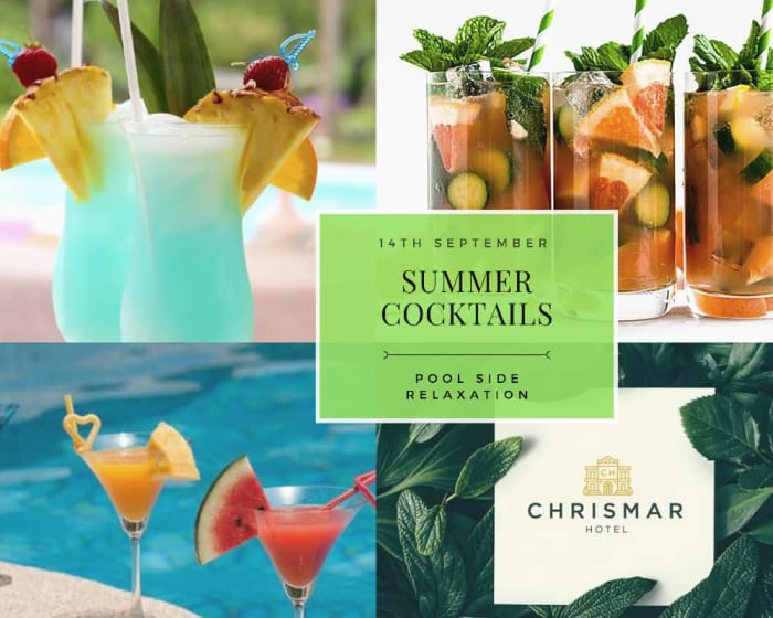 Summer Cocktails and pool side relaxation