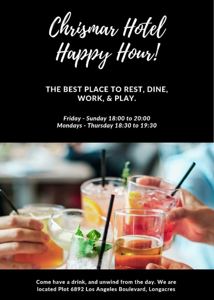 Relax and unwind during happy hour at Chrismar Hotel