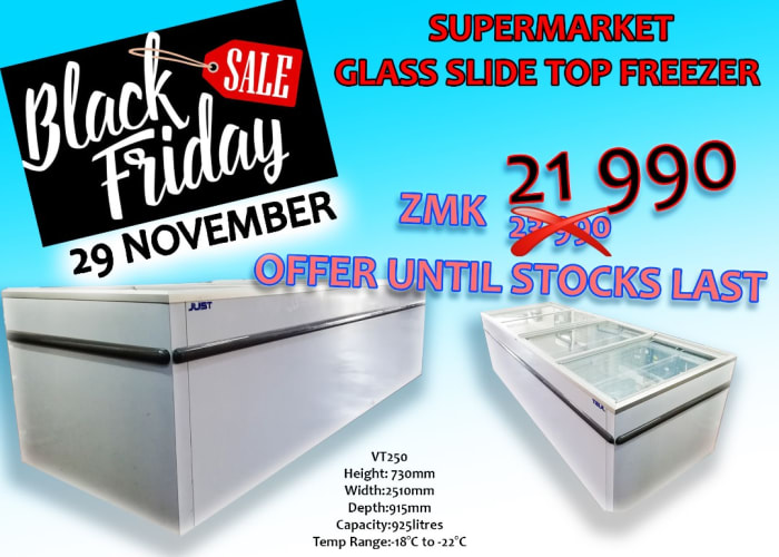 Glass top freezers for personal and commercial use now on sale