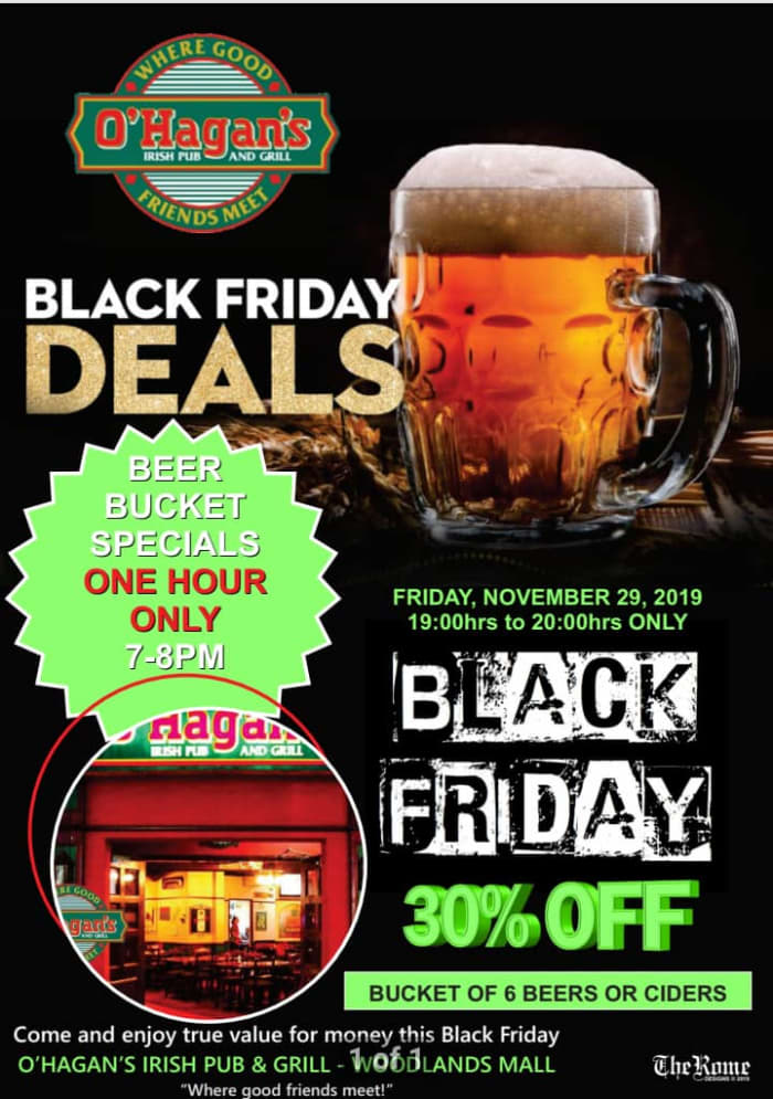 O'Hagan's beer bucket Black Friday special