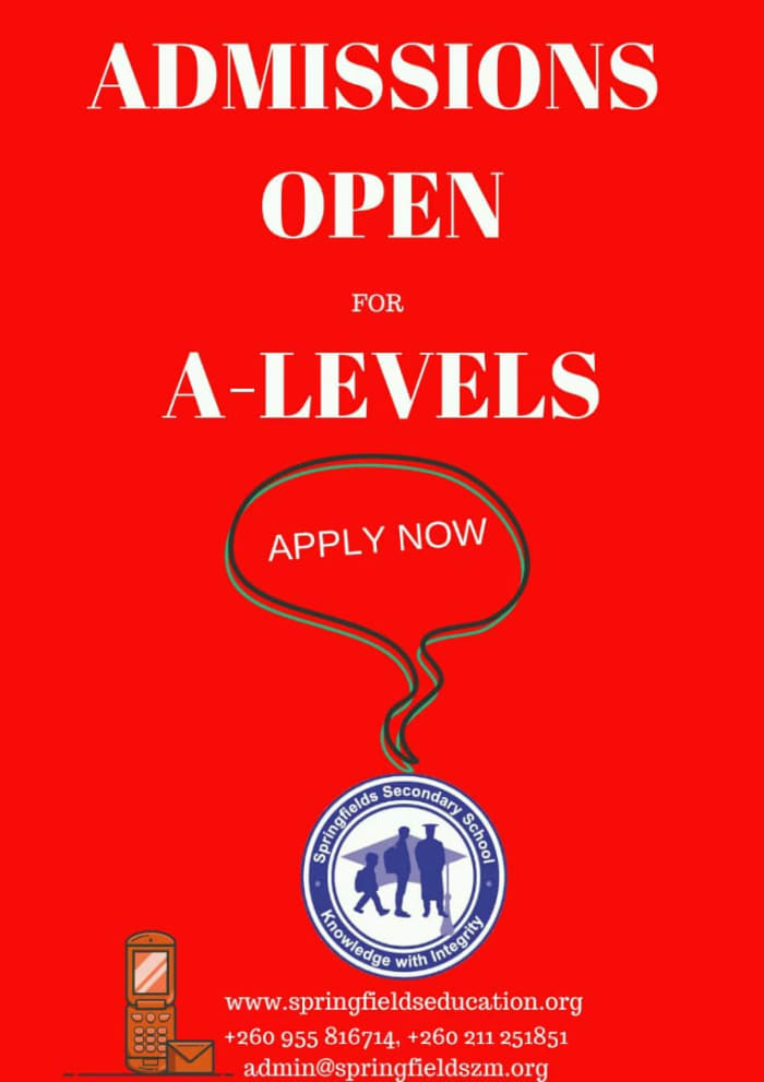 Admissions open for A - Levels