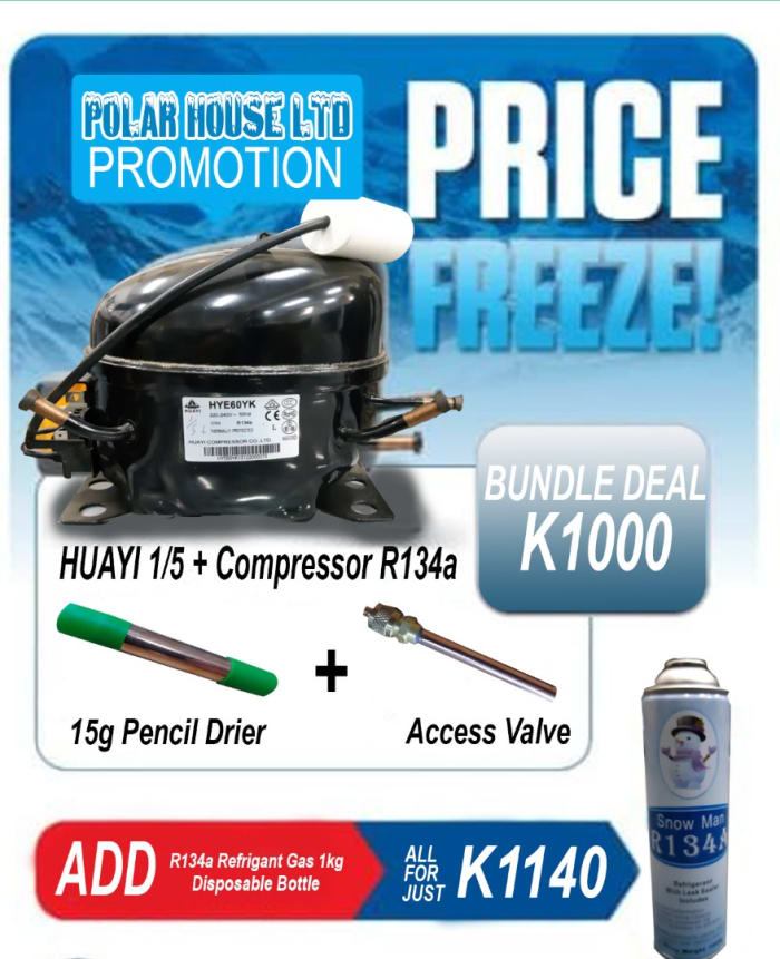 Motor Huayi 1/5 + Compressor R134a on promotion