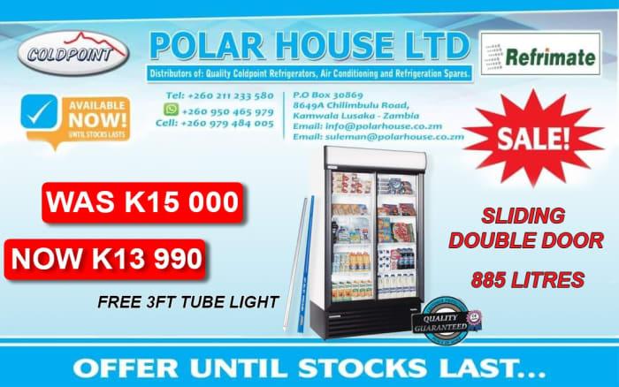 Special offer on 885 litres sliding double door fridge