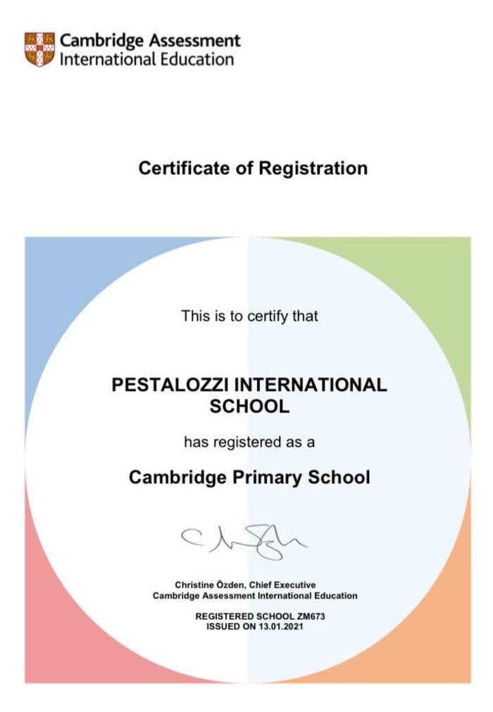Pestalozzi Education Centre has officially been recognized as a Cambridge Primary School