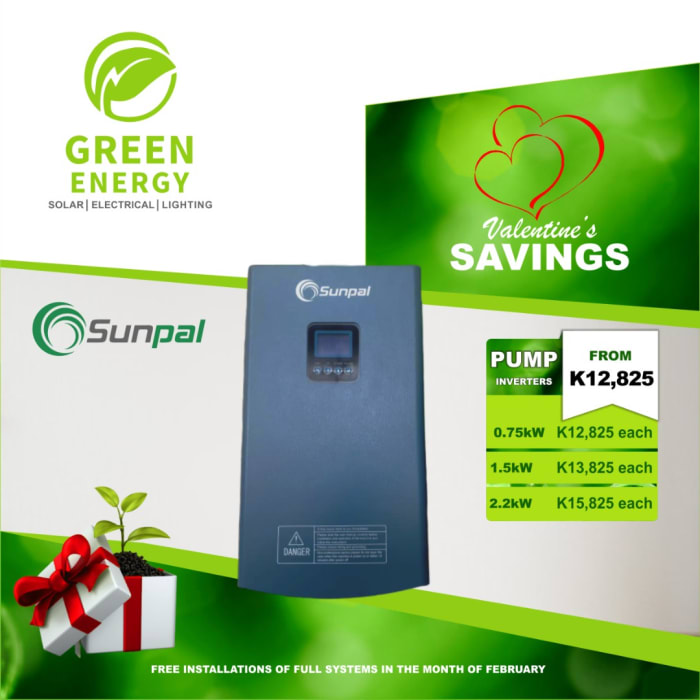 Sunpal pump inverters on special offer
