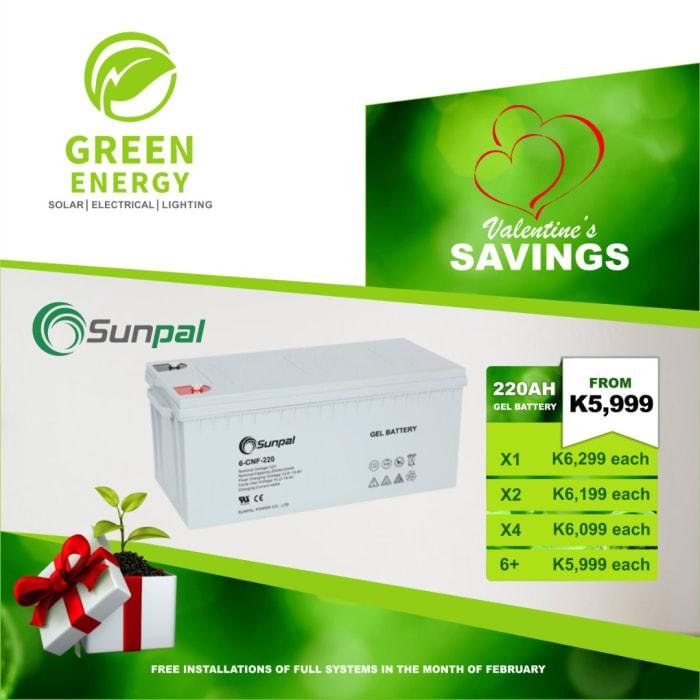 Sunpal 220 AH Gel battery on special offer