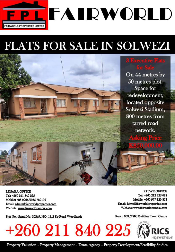 Flats for sale in Solwezi