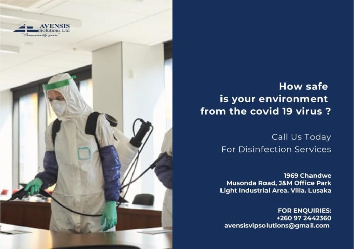 Engage Avensis Solutions to disinfect your premises from harmful germs and bacteria